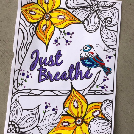Just Breathe - coloring page