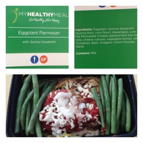 My Healthy Meal - Eggplant Parmesan