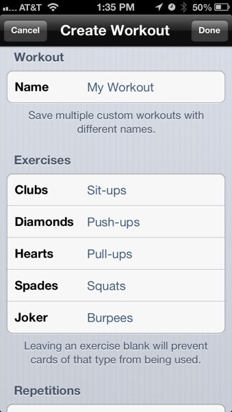 RipDeck Custom workout