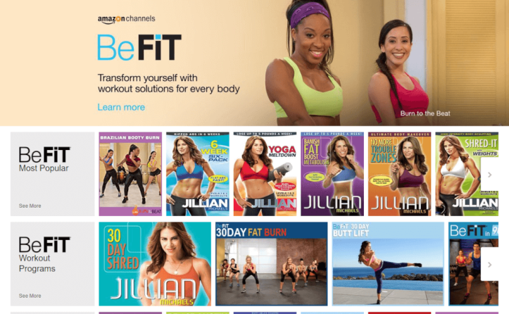 BeFit Amazon Channel