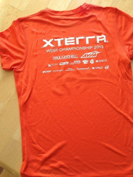 XTERRA 2013 Trail Race Shirt Back