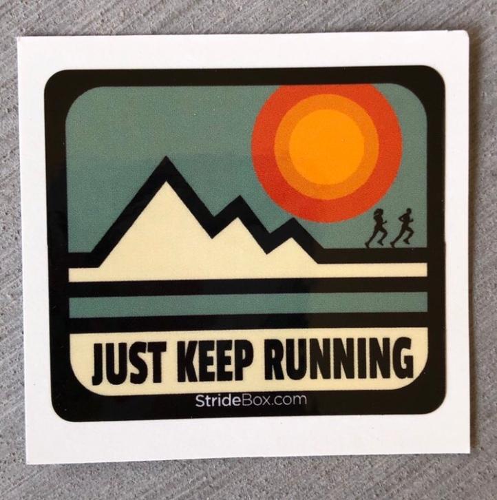 Just Keep Running sticker