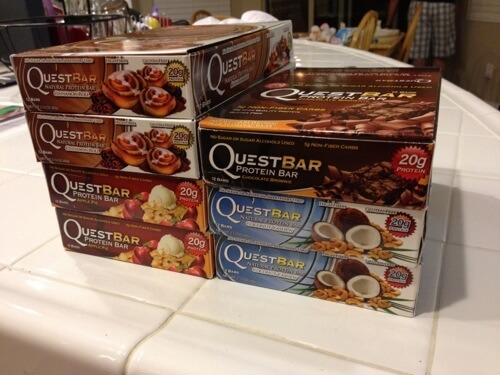 Quest Bars in boxes