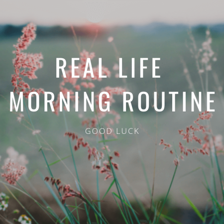 Real Life Morning Routine