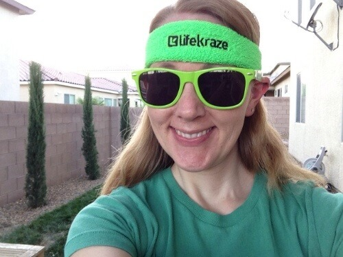 In the LifeKraze headband & sunglasses