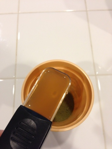 Vinegar in tablespoon