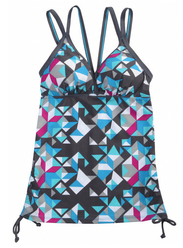 Free Country - Mosaic Tile Adjustable Side Tankini Top