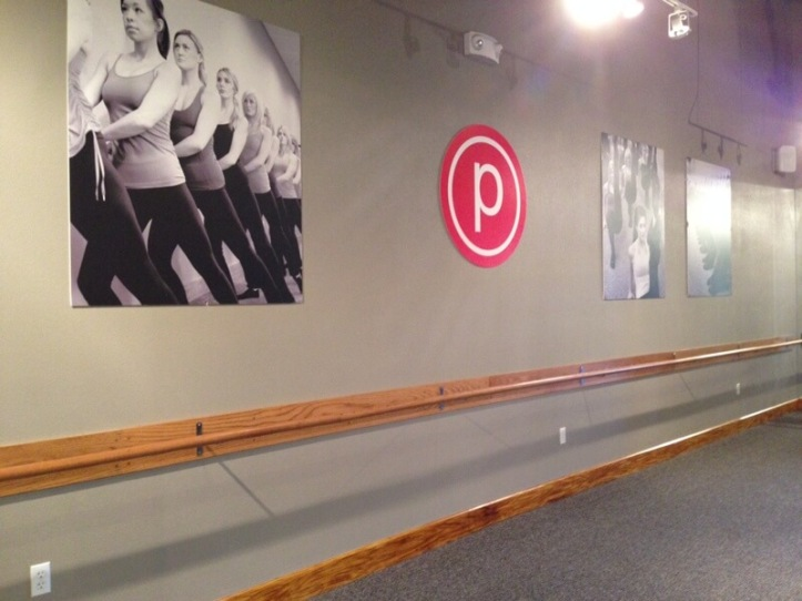 The studio at Las Vegas Pure Barre. This was an amazing class.