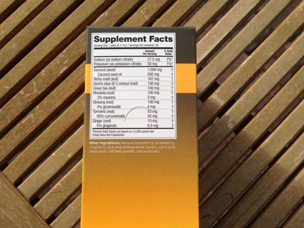 Sugar-free Energizer ingredients