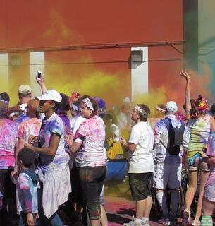 The Color Run 2012 - Finish Line Color Bomb