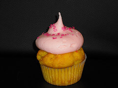 Retro Bakery Pink Lemonade cupcake