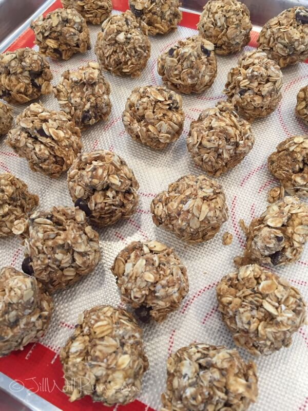 Purely Pinole - peanut butter pinole protein balls
