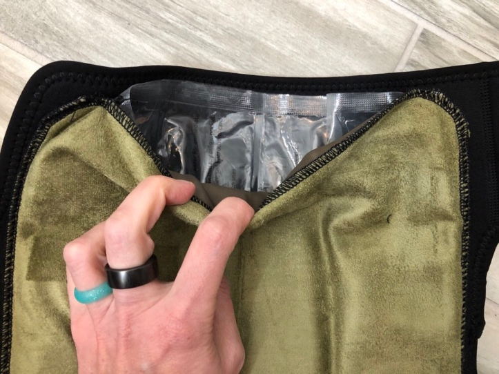 ice pack inside ubertherm wrap