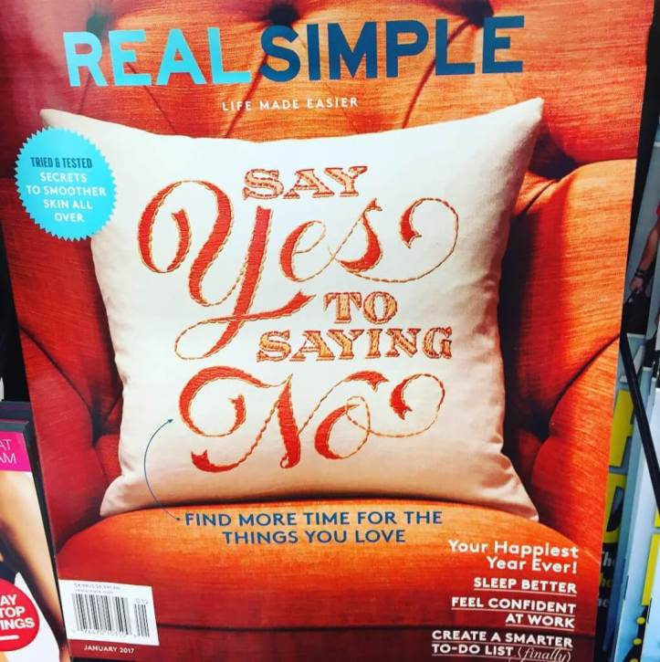 Real Simple magazine on the racks - January 2017 issue