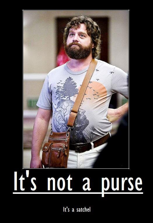 It's not a purse, It's a satchel - Pic from The Hangover