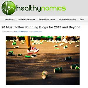 Screenshot of the 20 Top Running Blogs for 2013