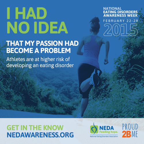 Athletes are at a higher risk of developing an eating disorder.