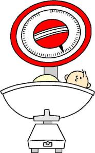 Baby scale cartoon