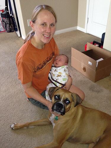 Me, Alex and Jade - Alex is 4.5 weeks old