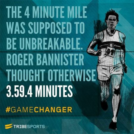 The 4 minute mile was supposed to be unbreakable. Roger Bannister thought otherwise. #GameChanger