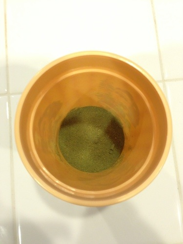 Green Powder in cup