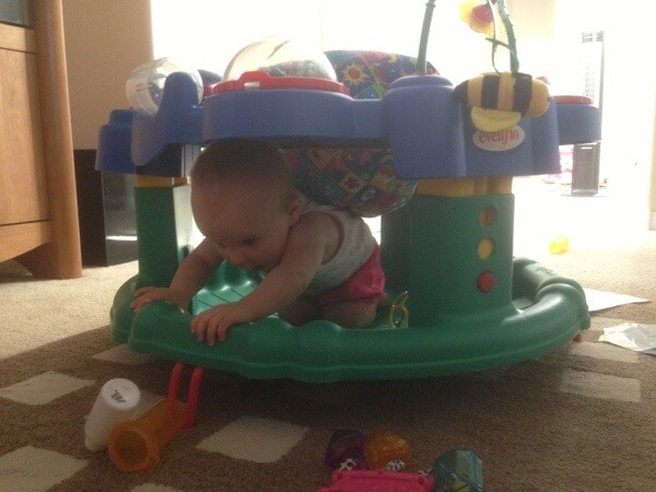 Alex in the exersaucer