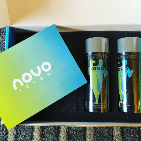 Novo Renew Bottles in a box