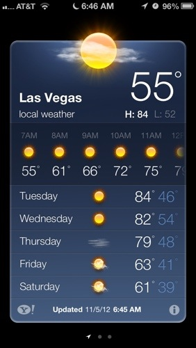 Weekly weather starting 11/5/2012
