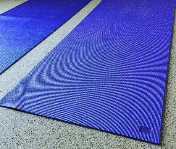 Rolling out my mats for the YogaDownload 21-day yoga challenge