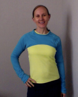 Urban Running Girl Shrug