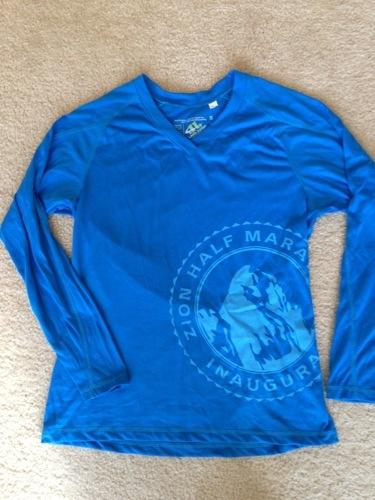 Zion Half Marathon race shirt - front