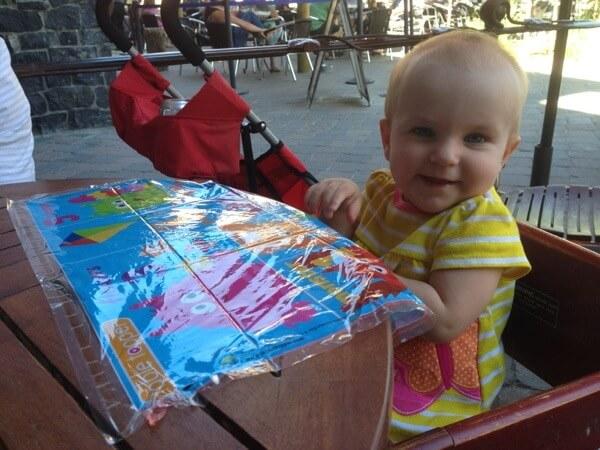 Happy baby at Side Door Cafe