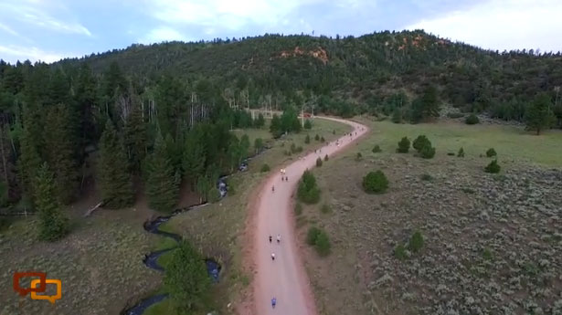 Aerial shot of the 2015 Parowan City Half Marathon