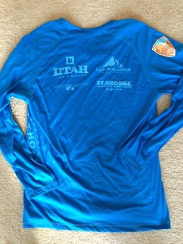 Zion Half Marathon shirt - back