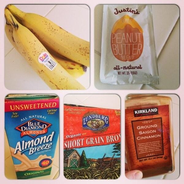 Banana, PB, Almond Butter, Rice and Cinnamon