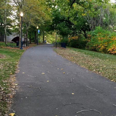 Path along the river in Hartford, CT