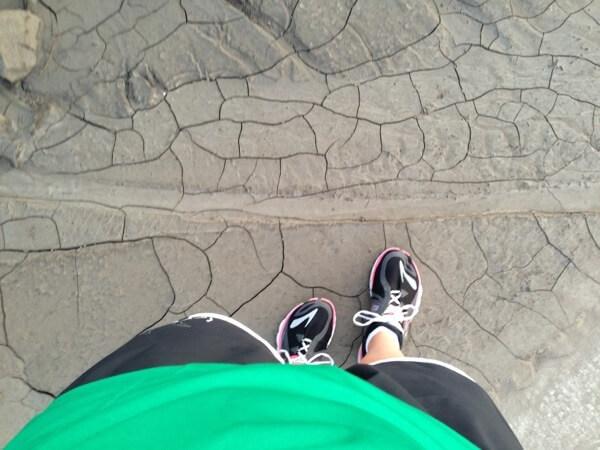 Muddy sidewalk