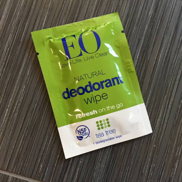 EO Deodorant Wipe from the April 2017 StrideBox