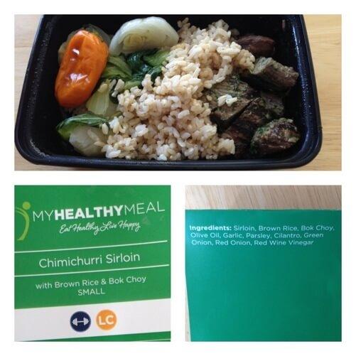 My Healthy Meal - chimichurri sirloin