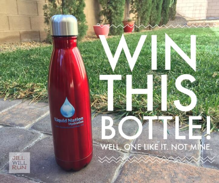 Win this stainless steel water bottle