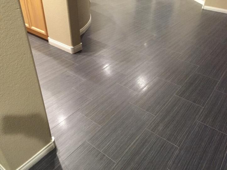 New tile floor