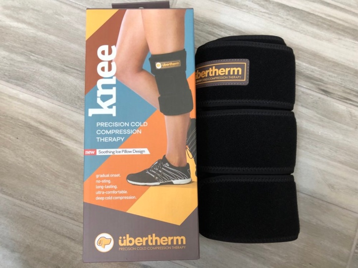 Ubertherm knee ice pack packaging and wrap