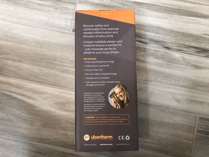 Ubertherm back packaging