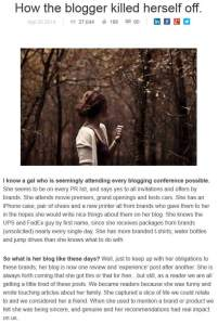 How the Blogger Killed Herself article screenshot