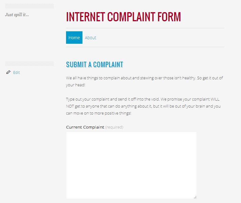 Internet Complaint Form