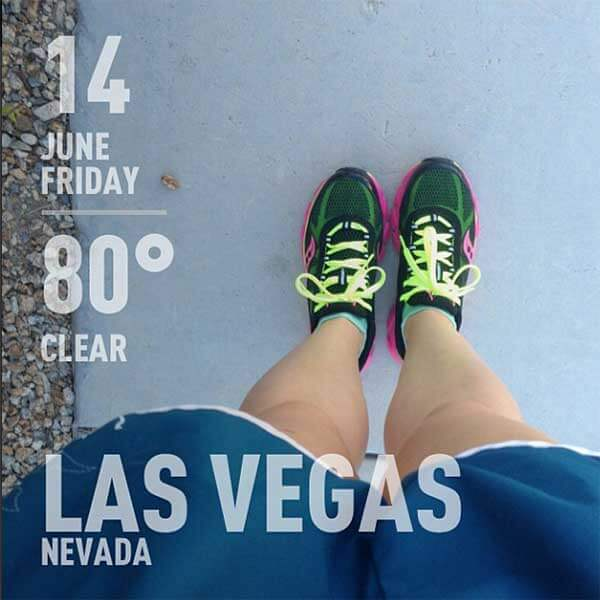 Friday, June 14, 2013 Long Run - 80 degrees in Las Vegas