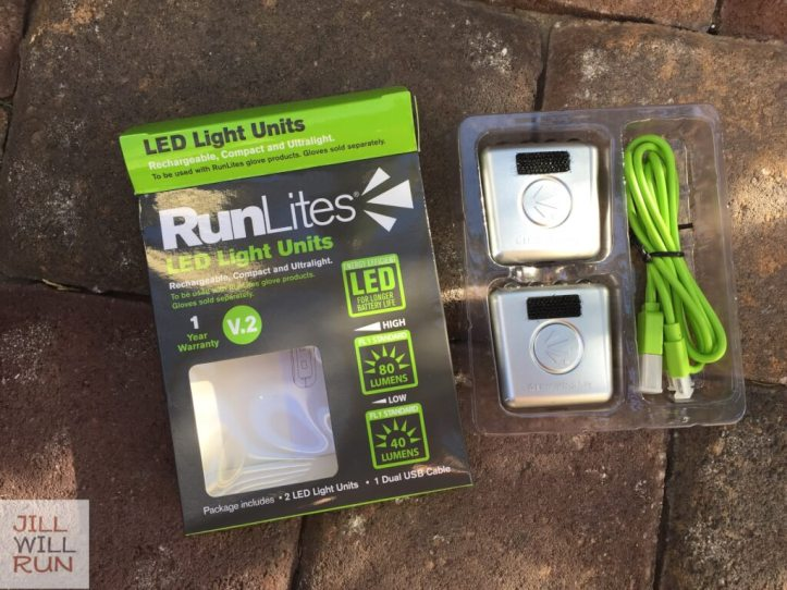RunLites LED Light Units package opened to see cord and lights