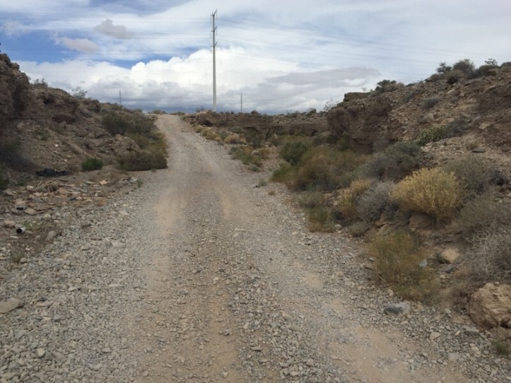 Trails on the outskirts of Las Vegas - big rocky hill