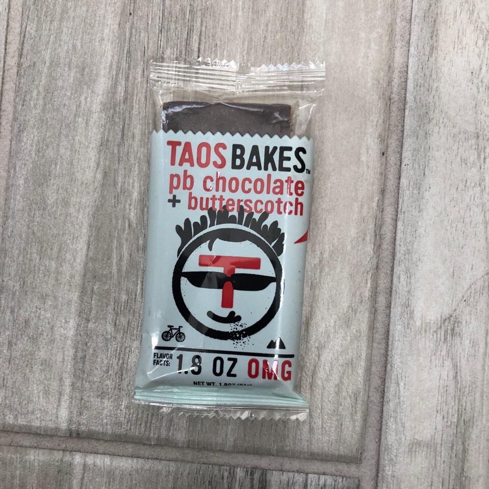 Taos Bakes pb chocolate + butterscotch bar