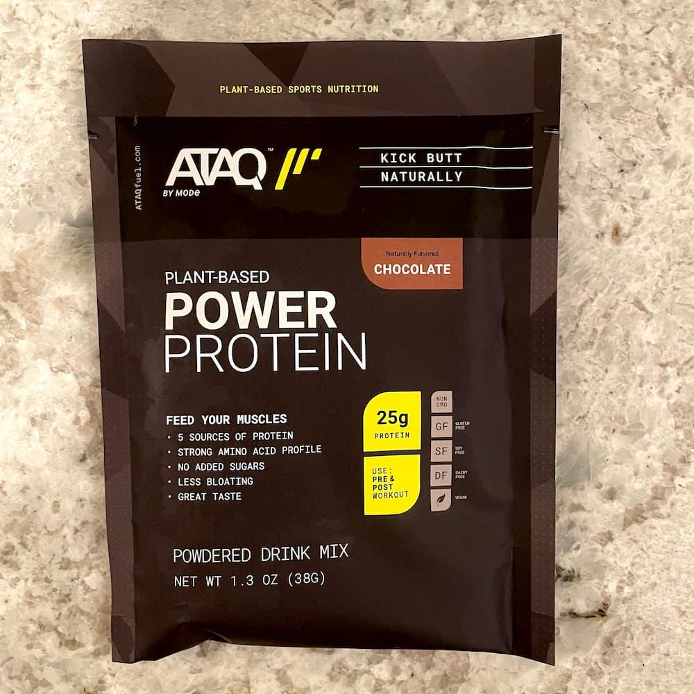 ATAQ chocolate protein powder